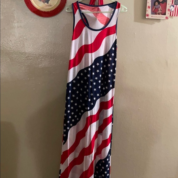 Long maxi flag dress